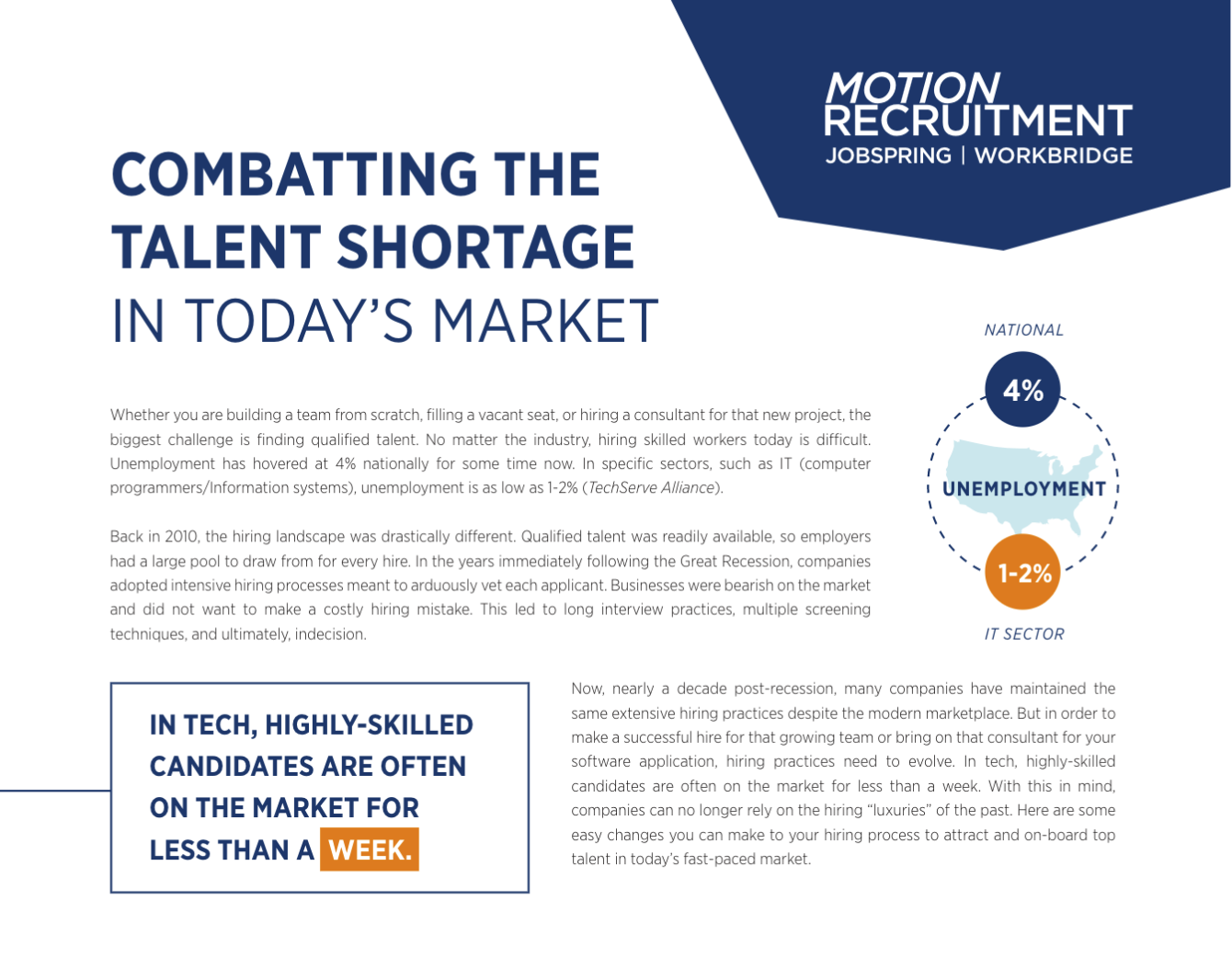 Combatting the talent shortage in today's market